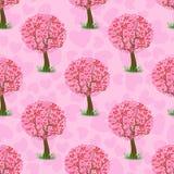 Heart Tree Pattern Royalty Free Stock Photo