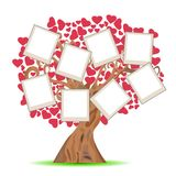 Heart tree with picture frames Stock Images