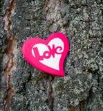 Heart on tree Royalty Free Stock Photos