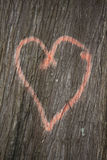 Heart on tree Royalty Free Stock Photos
