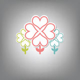 Heart tree symbol Royalty Free Stock Image