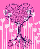 Heart Tree Vector Royalty Free Stock Photos