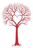 Heart tree, vector background stock illustration
