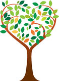 Heart tree. Vector illustration of tree logo Stock Photography