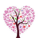 Heart tree vector illustration Stock Images