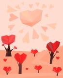 06 heart trees Stock Photo