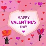 06 heart trees Stock Image