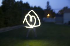 Heart in triangle light picture stock photo