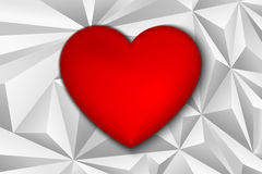 Heart of Triangles Royalty Free Stock Photos