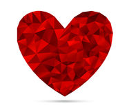 Heart from Triangles Royalty Free Stock Images