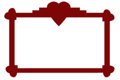 Heart Trimmed Red Frame Royalty Free Stock Images