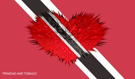 The Heart of Trinidad and Tobago Flag. Stock Photography