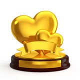 Heart trophy Stock Photography