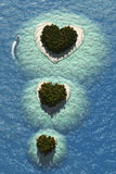 Heart Islands Royalty Free Stock Images