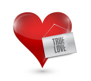 Heart with a true love sign illustration. Design over white Royalty Free Stock Image