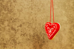 Heart on a turquoise background St. Valentine`s Day Stock Photos