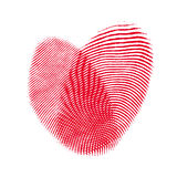 Heart from two fingerprint. Concept love backgrounds Stock Image
