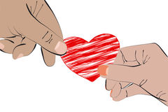 Heart in Two Hands Stock Photo