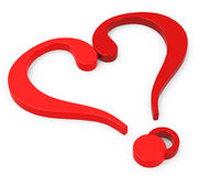 Heart Questions Stock Illustration - Image: 42047267