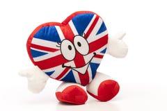 Heart UK. British Flag on Soft toy heart, UK Stock Photos