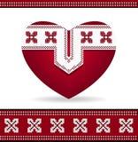 Heart with  Ukrainian ornament Stock Photography