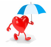 Heart with umbrella Royalty Free Stock Photo