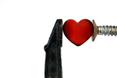 Heart under high pressure. Stock Images