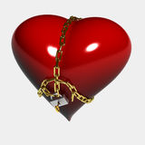 Heart under lock and key Royalty Free Stock Photo