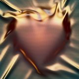 A heart under a metal sheet vector illustration