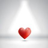Heart under a spotlight Royalty Free Stock Photography