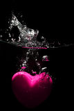Heart underwater Royalty Free Stock Image