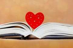 Heart and unfolded book, Bible. I like to read books, the Bible_