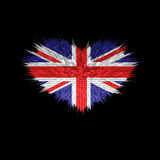 The Heart of United Kingdom Flag. Royalty Free Stock Photography