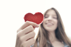 Heart Up Stock Photography
