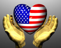 Heart with us flag texture Stock Photography