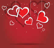 Heart valentine. Paper hearts for valentine day Royalty Free Stock Image