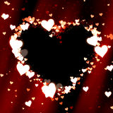 Heart valentine background Stock Images