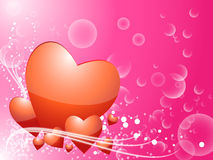 Heart valentine background Royalty Free Stock Photos