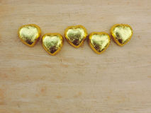 Heart,Valentine background. Heart shape from chocolate put on wooden floor,Valentine background Royalty Free Stock Photo