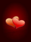 Heart Valentine Card royalty free stock image