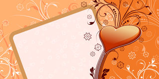 Heart Valentine Card stock photo