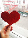 Heart valentine card Stock Photography