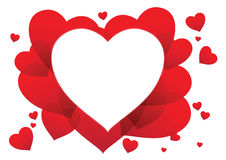 Heart valentine card. In eps 10 Royalty Free Stock Image