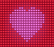 Heart for Valentine card. Heart -  Valentine card. Love symbol, hearts background - vector illustration Stock Images