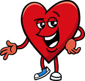 Heart valentine cartoon character Stock Photos
