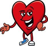 Heart valentine cartoon character Stock Photos