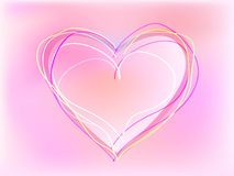 Heart for valentine day. On colorfull background Stock Photography