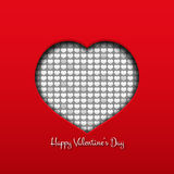 Heart valentine day card  Stock Image