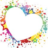 Heart for valentine day. Illustration of multicolor heart background Stock Photography