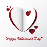 Heart Valentine Greeting Card Design Stock Image